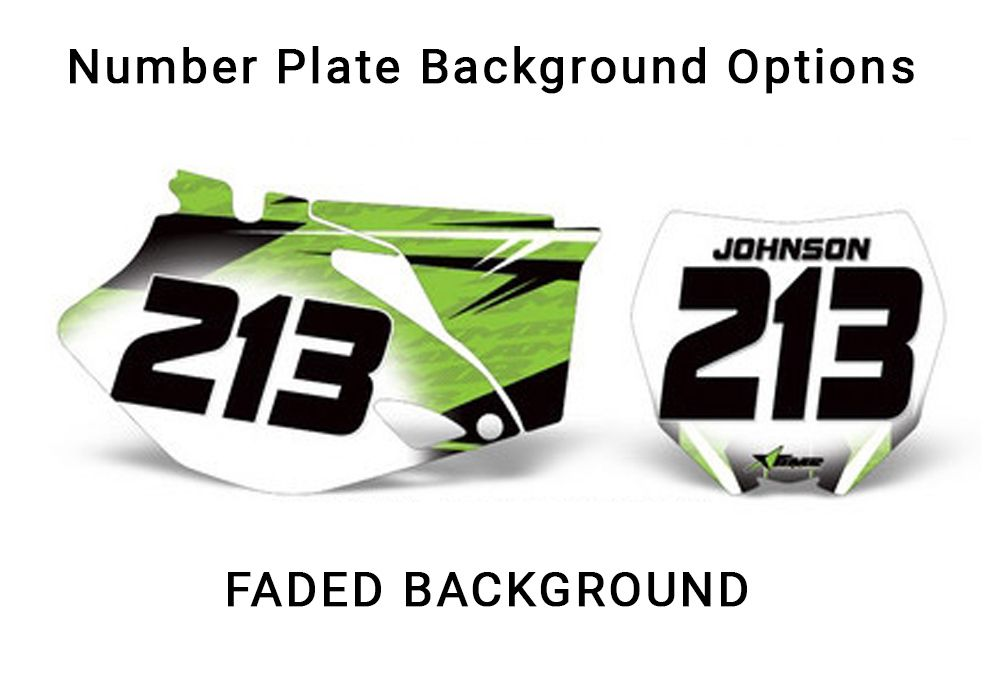 MX Dirt Bike Number Plate Graphics - Number Plate