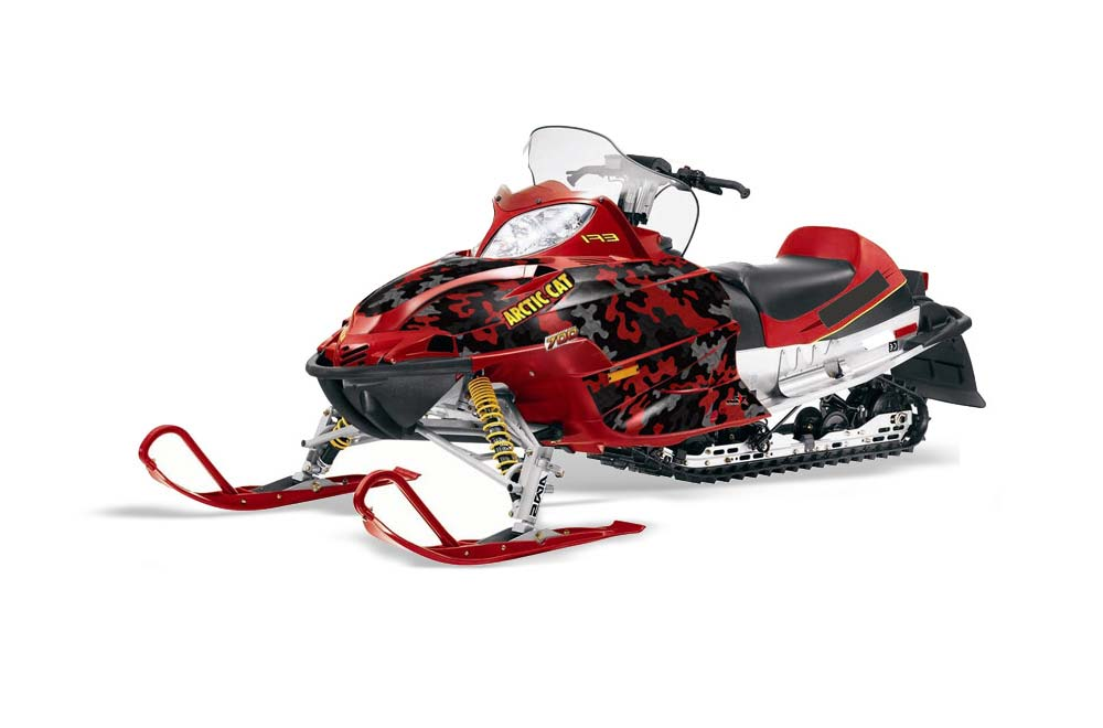 Arctic Cat Firecat F5 / F6 / F7 Sled Graphic Kit - 2003-2006 Camoplate Red