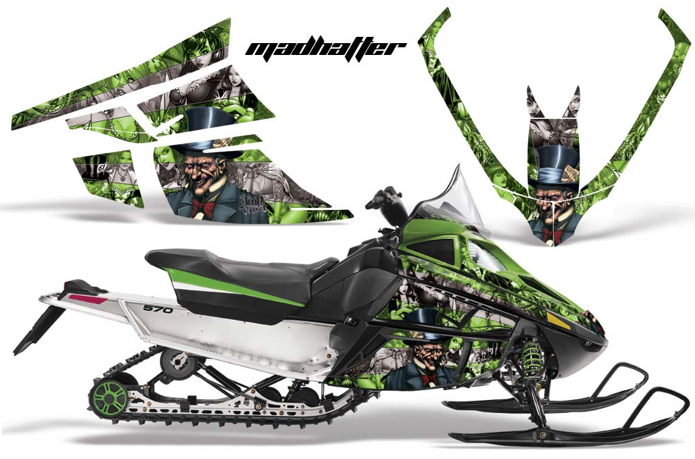 Arctic Cat F Z1 Series Sled Graphic Kit - All Years Mad Hatter Green