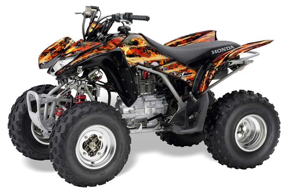Honda TRX 250EX / 250R / 250X ATV Graphic Kit - 2006-2018 Firestorm Black