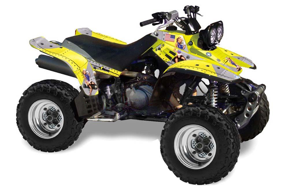 Yamaha Warrior 350 ATV Graphic Kit - All Years T Bomber Yellow