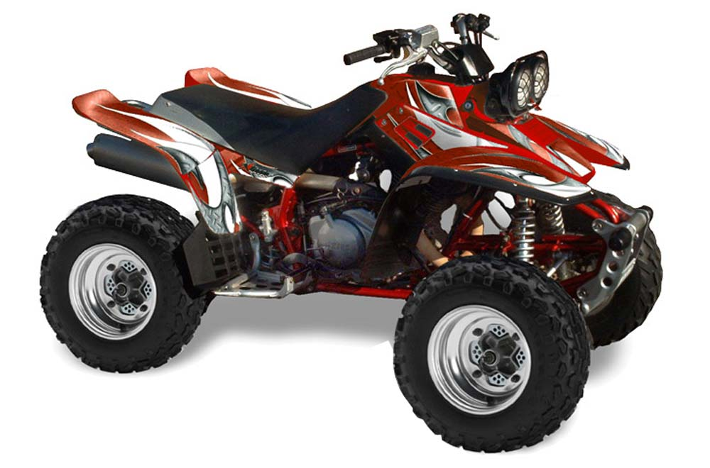 Yamaha Warrior 350 ATV Graphic Kit - All Years Tribal Flames Red