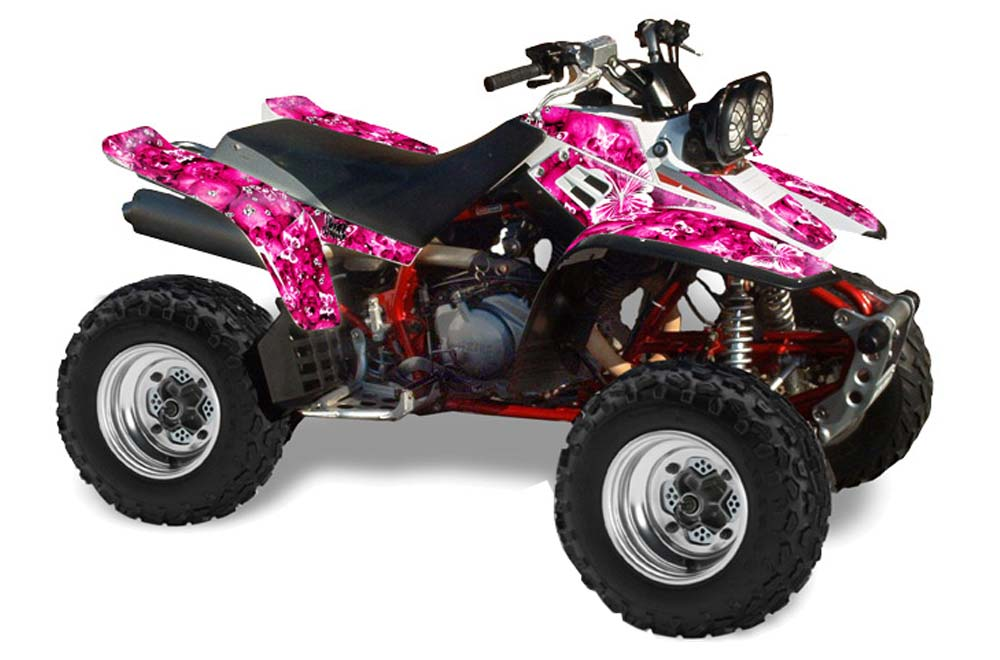 Yamaha warrior 350 atv graphics butterflies pink quad for What year is my yamaha atv
