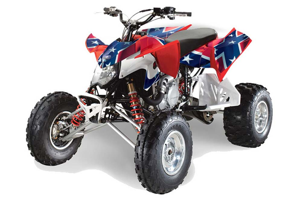 AMR Racing Graphics Kit for ATV Polaris Outlaw 500//525 2006-2008 CAMOPLATE BLACK