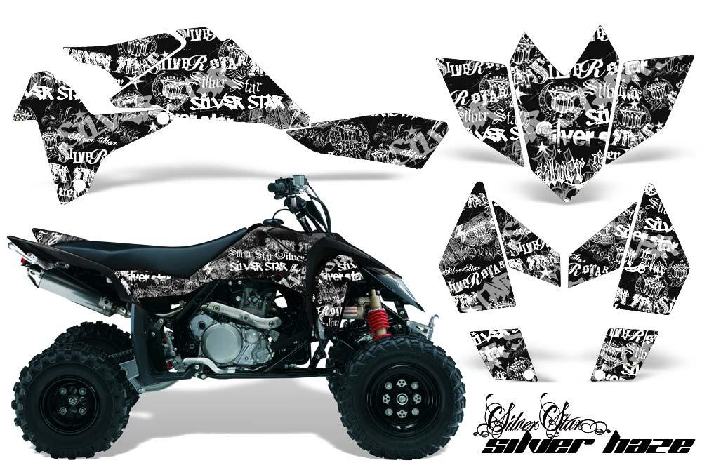 Suzuki LTR 450 ATV Graphic Kit - 2006-2009 Silver Star - Silverhaze White