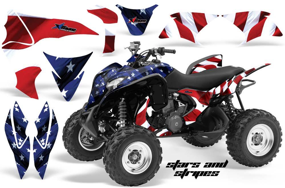 Honda TRX 700 XX ATV Graphic Kit - 2009-2015 Stars n Stripes Red