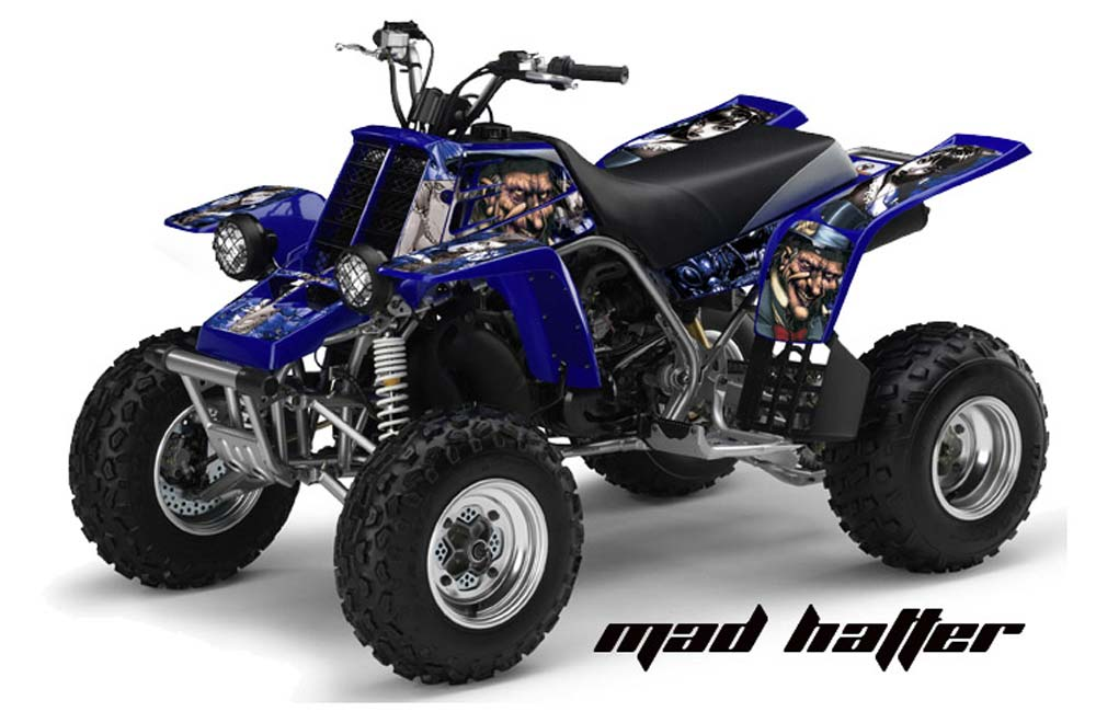 yamaha banshee 350 full bore plastics atv graphics mad hatter blue quad graphic decal wrap. Black Bedroom Furniture Sets. Home Design Ideas