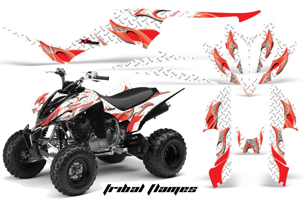 AMR Racing ATV Graphics kit Sticker Decal Compatible with Yamaha Raptor 350 2004-2014 Swift Red