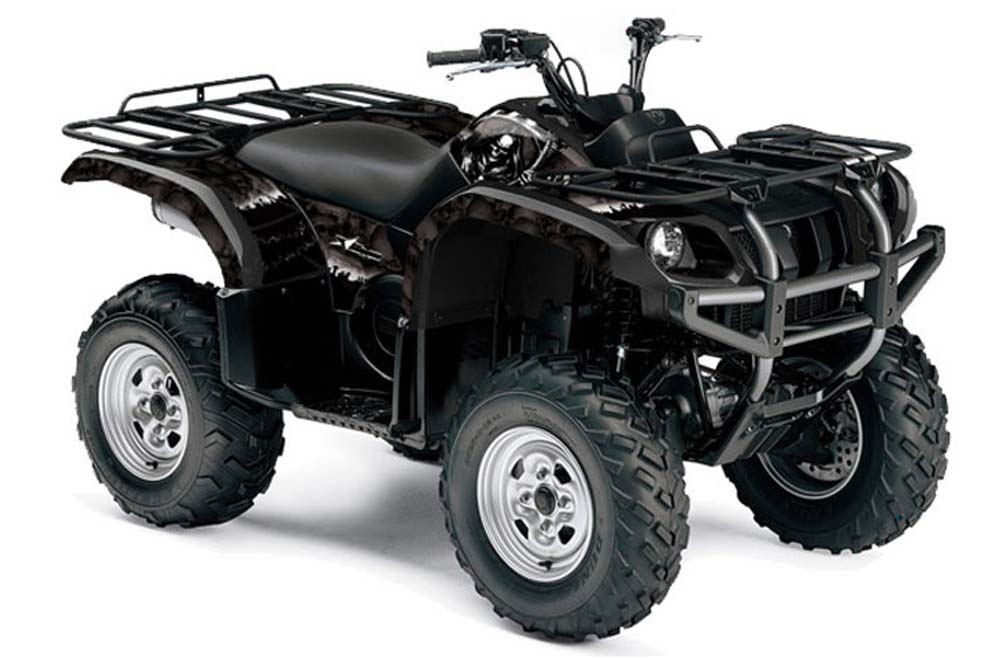 Yamaha grizzly 660 atv graphics reaper black quad for What year is my yamaha atv
