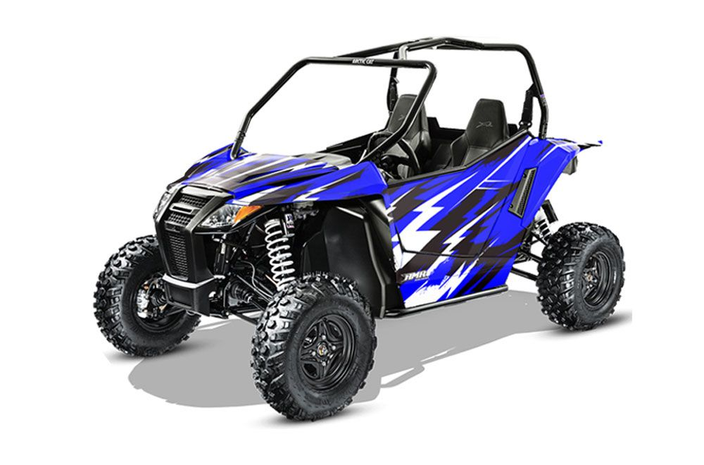 arctic cat wildcat limited 700 utv graphics attack blue side by side graphic decal wrap kit. Black Bedroom Furniture Sets. Home Design Ideas