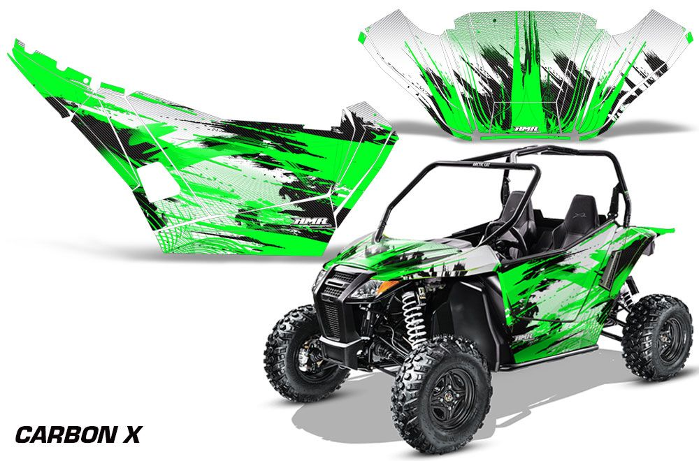 arctic cat wildcat limited 700 utv graphics carbon x green side by side graphic decal wrap. Black Bedroom Furniture Sets. Home Design Ideas