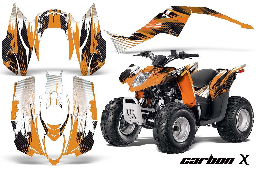 Arctic Cat DVX90 ATV Graphic Kit - 2008-2017 Carbon X Orange