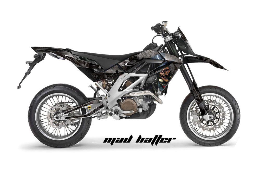 Aprilia SXV 4.5 / 5.5 Dirt Bike Graphic Kit - 2006-2015 Mad Hatter Black