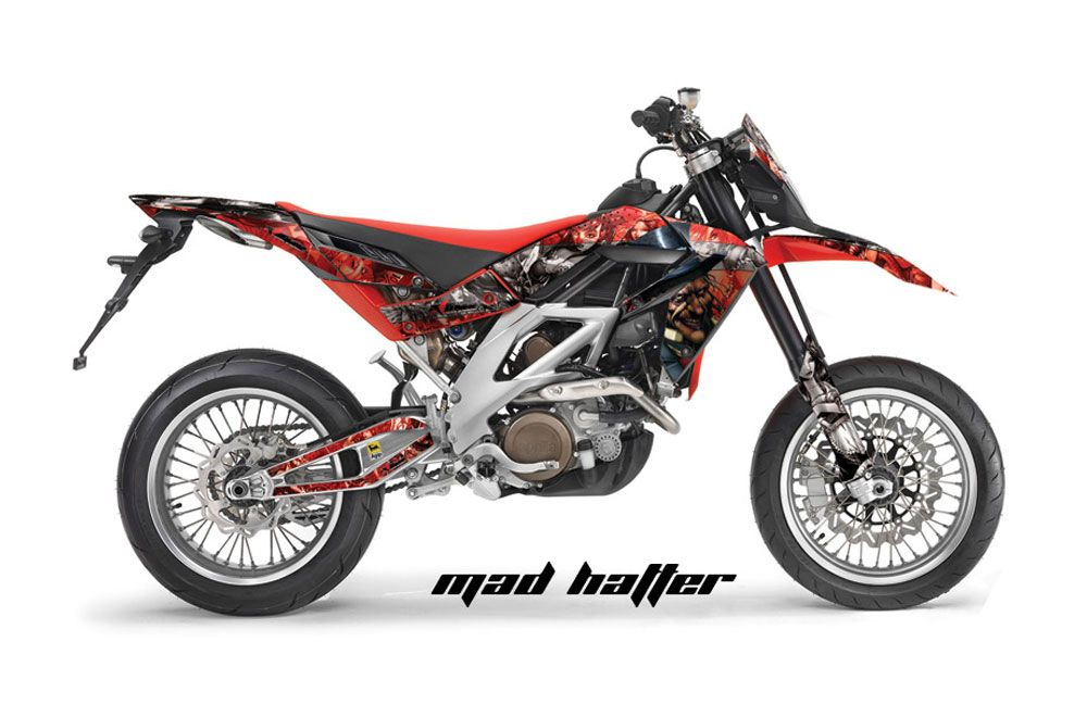 Aprilia SXV 4.5 / 5.5 Dirt Bike Graphic Kit - 2006-2015 Mad Hatter Red