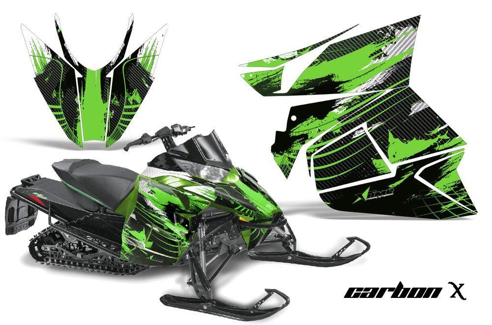 Arctic Cat ProCross Sno Pro Sled Graphic Kit - 2012-2016 Carbon X Green