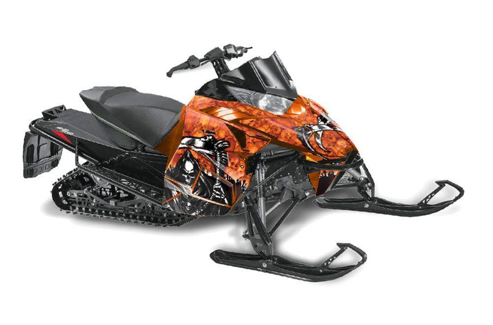 Arctic Cat ProCross Sno Pro Sled Graphic Kit - 2012-2016 Reaper Orange