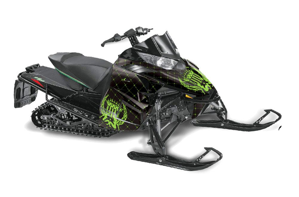 Arctic Cat ProCross Sno Pro Sled Graphic Kit - 2012-2016 Silver Star - Reloaded Green