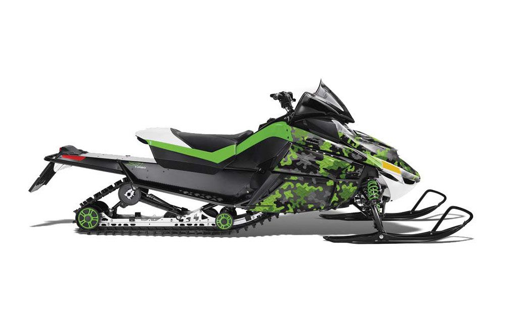 Arctic Cat Z1 Turbo Sled Graphic Kit - 2006-2012 Camoplate Green