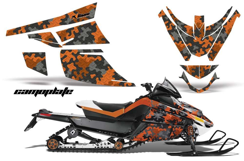 Arctic Cat Z1 Turbo Sled Graphic Kit - 2006-2012 Camoplate Orange