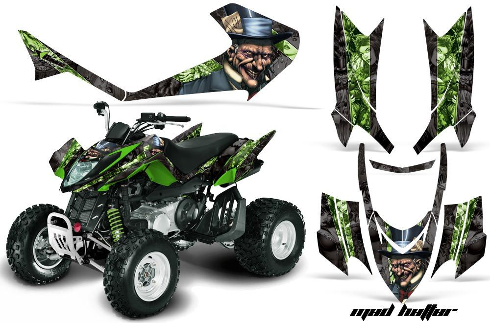 Arctic Cat DVX400 ATV Graphic Kit - All Years Mad Hatter Green