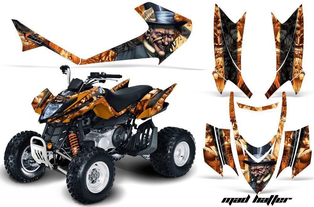 Arctic Cat DVX400 ATV Graphic Kit - All Years Mad Hatter Orange