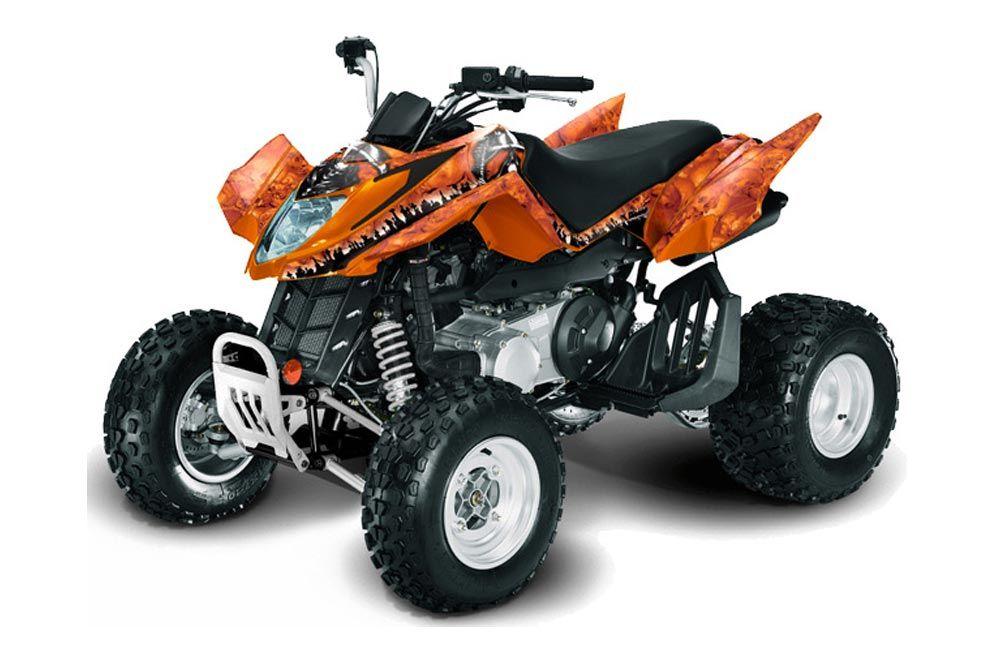 Arctic Cat DVX300 ATV Graphic Kit - All Years Reaper Orange