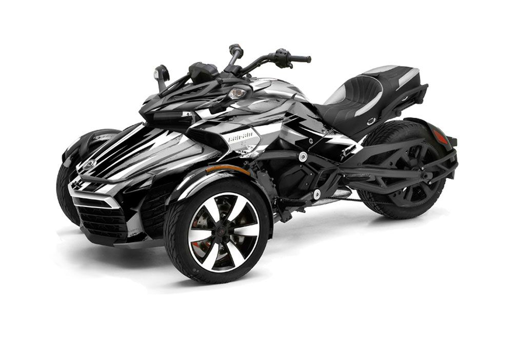 Can Am F3-S Spyder Graphic Kit - All Years Attack Silver