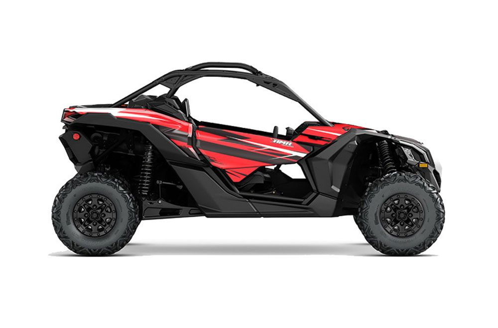 can am maverick x3 x ds x rs trim graphics attack red side by side graphic decal wrap kit. Black Bedroom Furniture Sets. Home Design Ideas