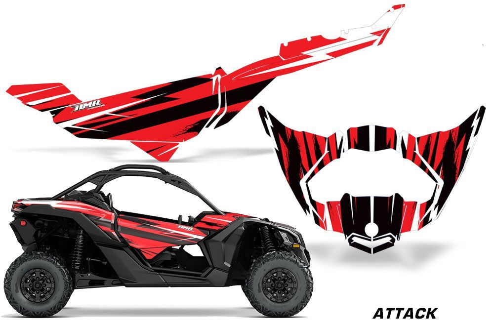 Can Am Maverick X3 X Ds X Rs Trim Graphics Attack Red