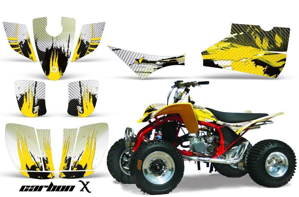 Cobra ECX 50 / 70 / 80 ATV Graphic Kit - All Years Carbon X Yellow