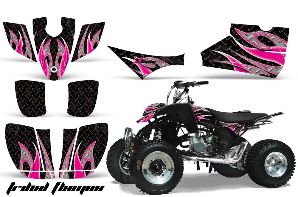 Cobra ECX 50 / 70 / 80 ATV Graphic Kit - All Years Tribal Flames Pink