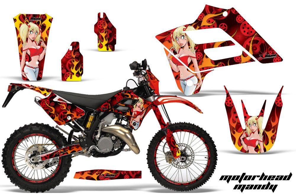 Gas Gas EC 300 Dirt Bike Graphic Kit - 2006-2008 Motorhead Mandy Red