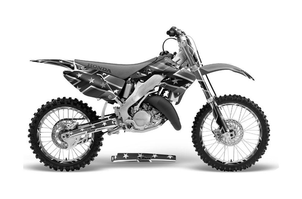 honda cr125 dirt bike graphics  rebel