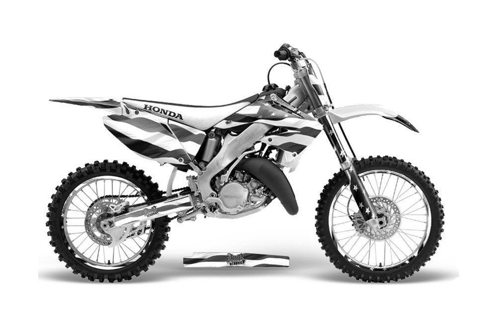 honda cr125 dirt bike graphics  stars and stripes