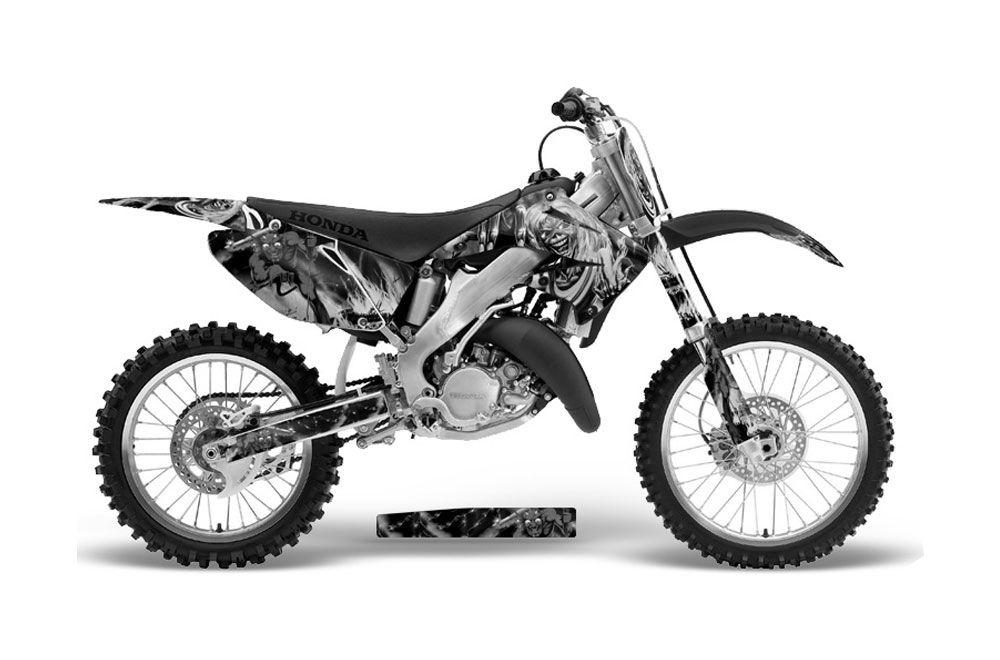 honda cr125 dirt bike graphics  iron maiden