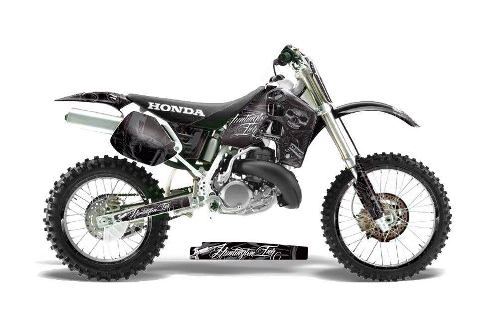 honda cr500 dirt bike graphics  skulls and hammers