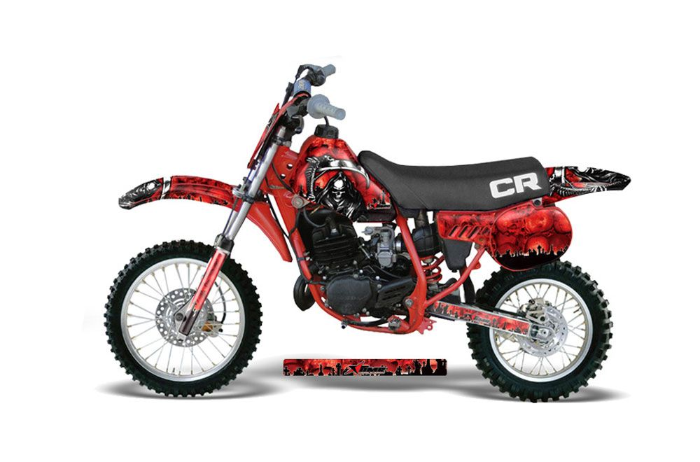 Honda CR60 Dirt Bike Graphic Kit - 1984-1985 Reaper Red