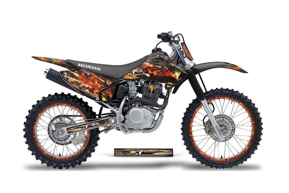 Honda CRF230 F Dirt Bike Graphic Kit - 2003-2007 Firestorm Black