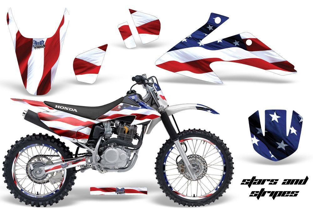 Honda CRF230 F Dirt Bike Graphic Kit - 2008-2014 Stars and Stripes Red White & Blue