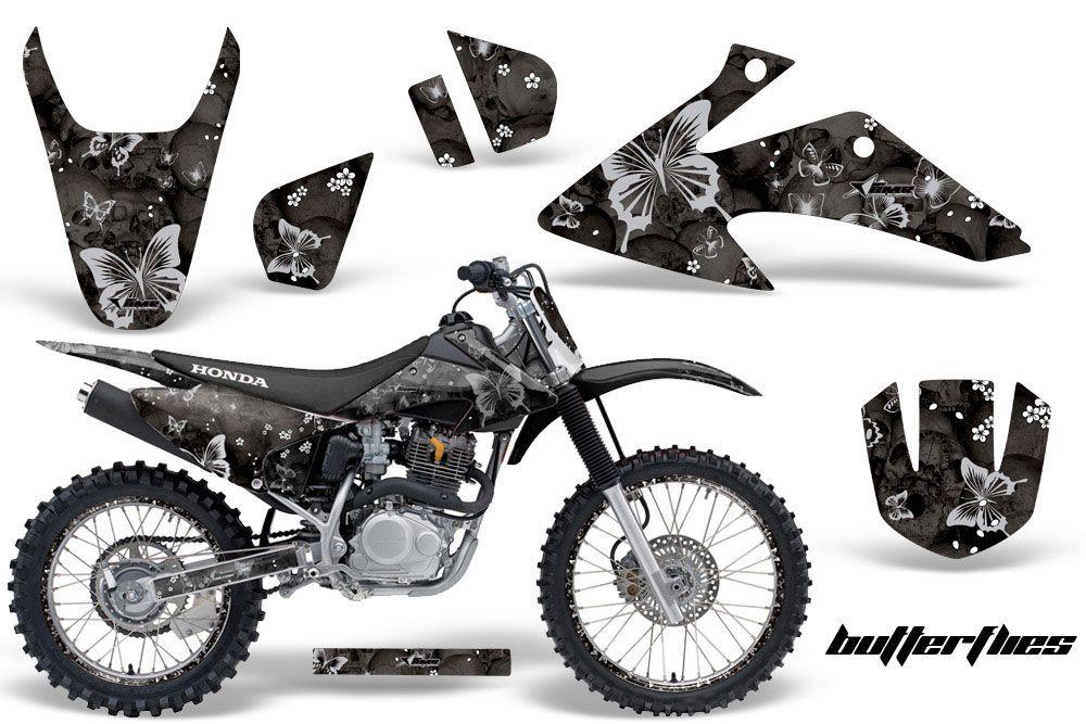 Honda CRF F Dirt Bike Graphics Butterflies Black MX Graphic - Decal graphics for dirt bikes