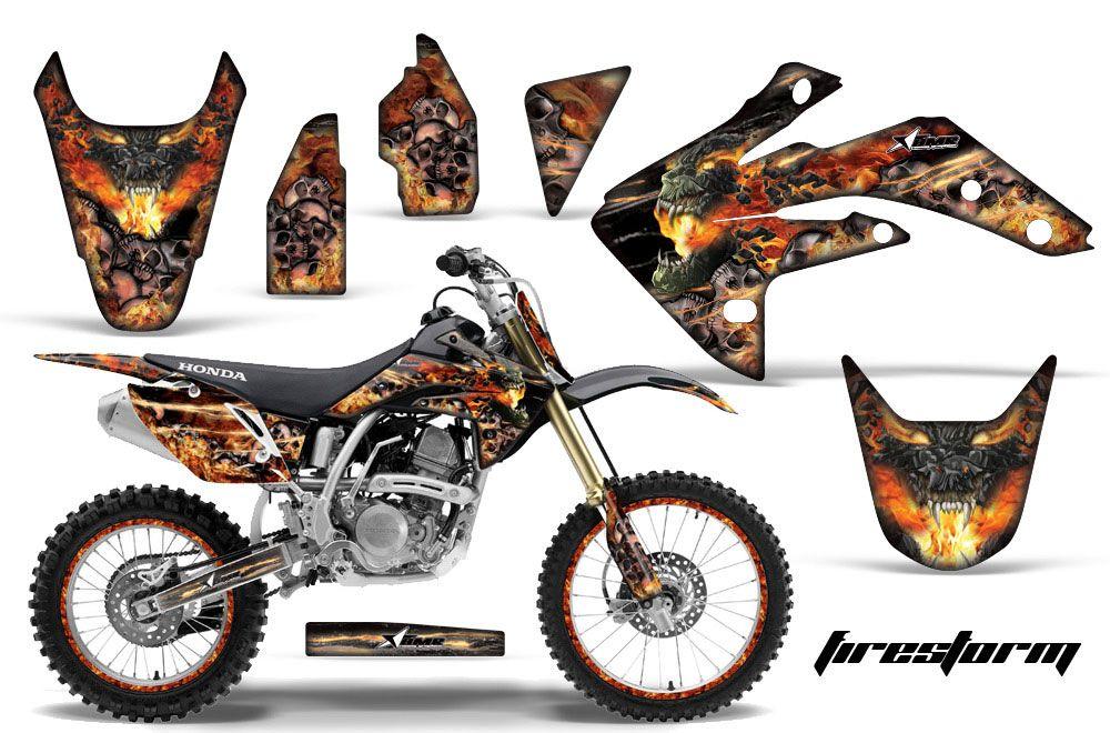Honda CRF150 R Dirt Bike Graphic Kit - 2007-2016 Firestorm White