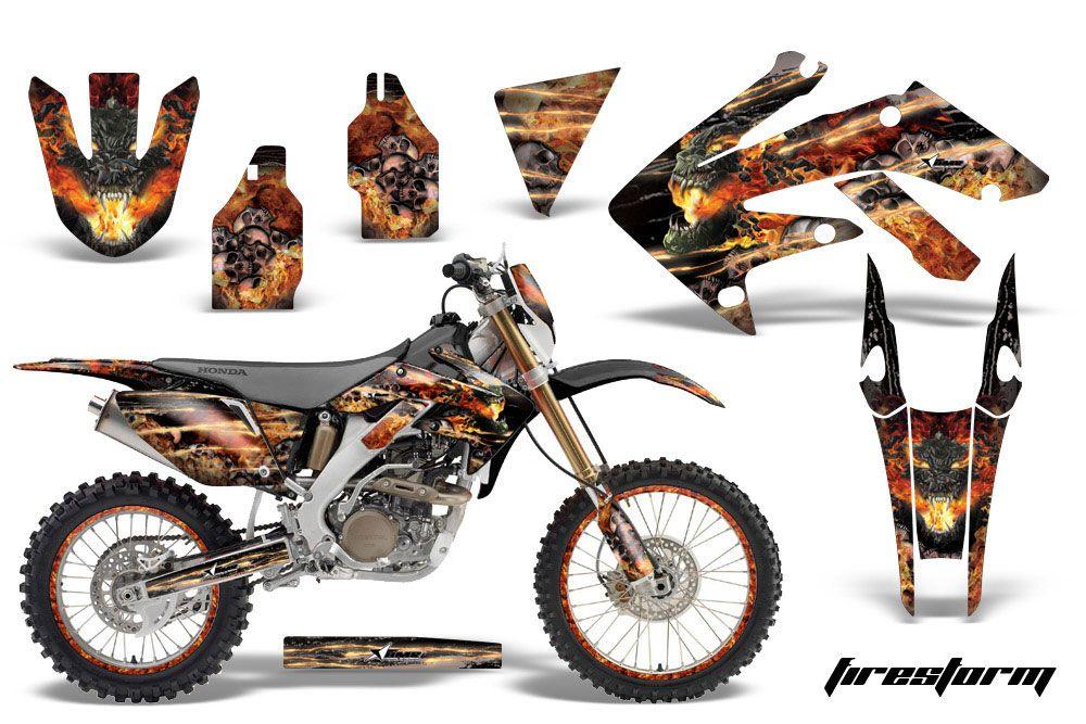 Honda CRF250 X Dirt Bike Graphic Kit - 2004-2017 Firestorm Black