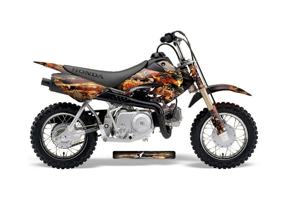 Honda CRF50 Dirt Bike Graphic Kit - 2004-2013 Firestorm Black