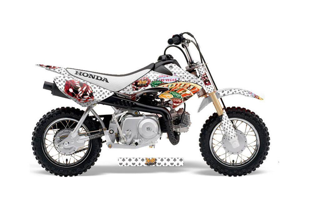 Honda CRF50 Dirt Bike Graphic Kit - 2004-2013 Vegas Baller White