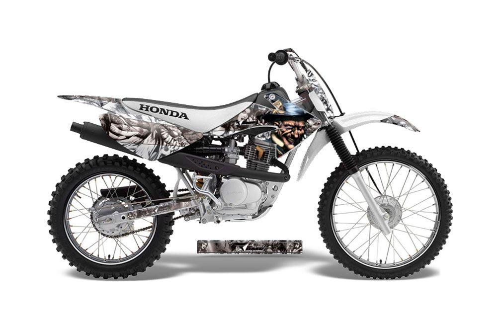 Honda CRF100 Dirt Bike Graphic Kit - 2004-2010 Mad Hatter White