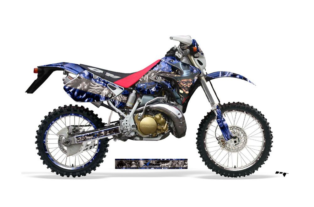 Honda CRM 250 AR Dirt Bike Graphic Kit - 1989-1999 Mad Hatter Blue
