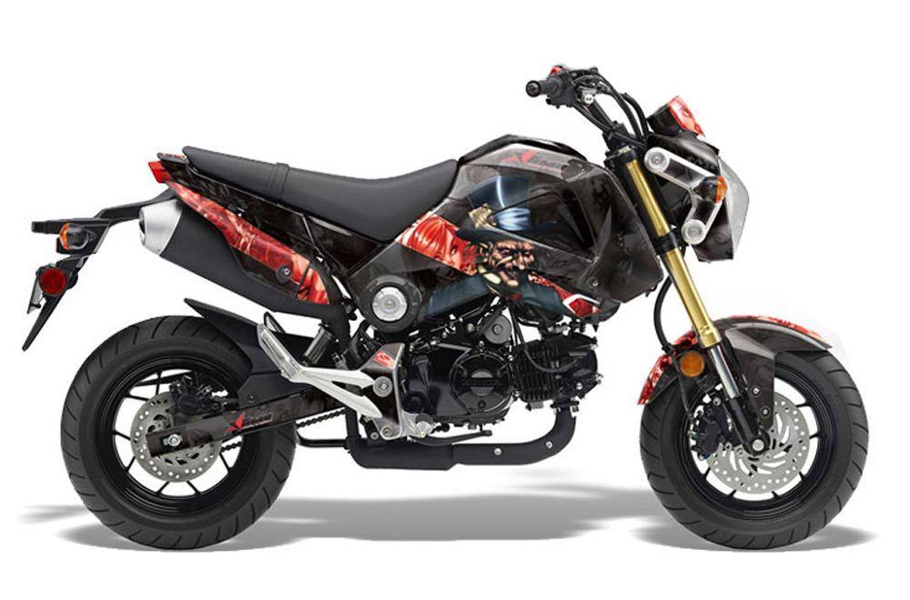 Honda Grom 125 Dirt Bike Graphic Kit - 2013-2016 Mad Hatter Black
