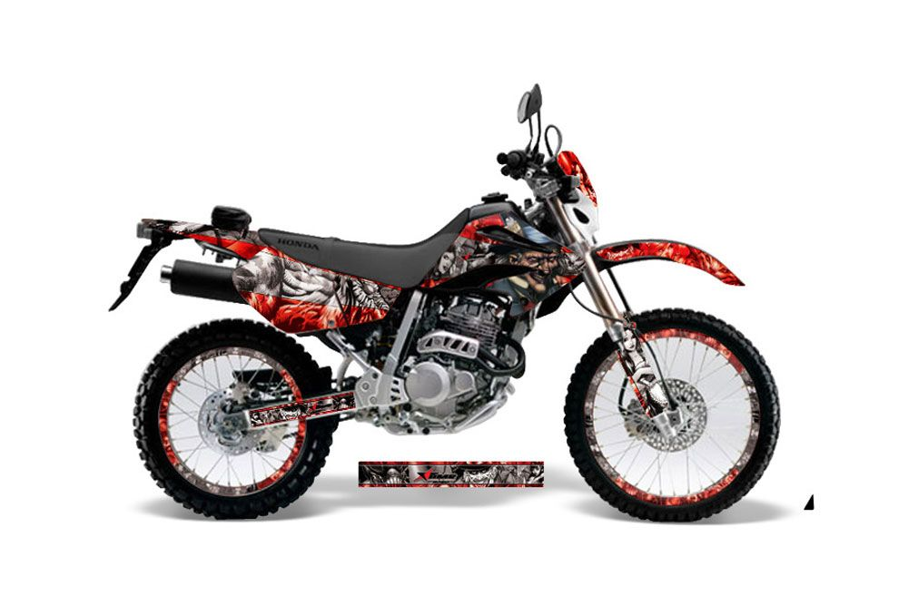 Honda XR250 SM Dirt Bike Graphic Kit - 2003-2005 Mad Hatter Red