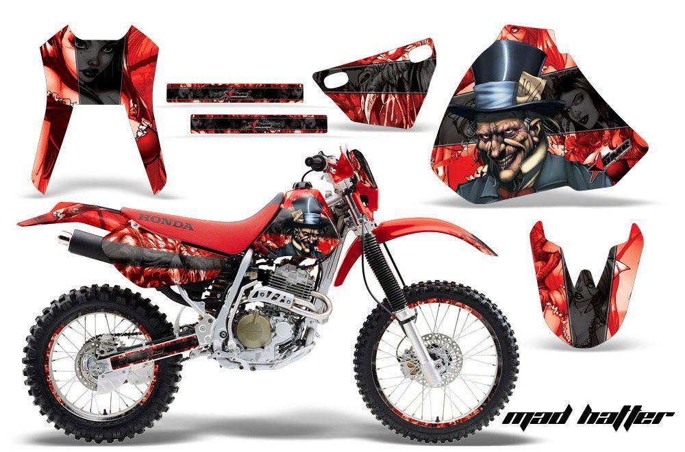 Honda XR400 Dirt Bike Graphic Kit - 1996-2004 Mad Hatter Red