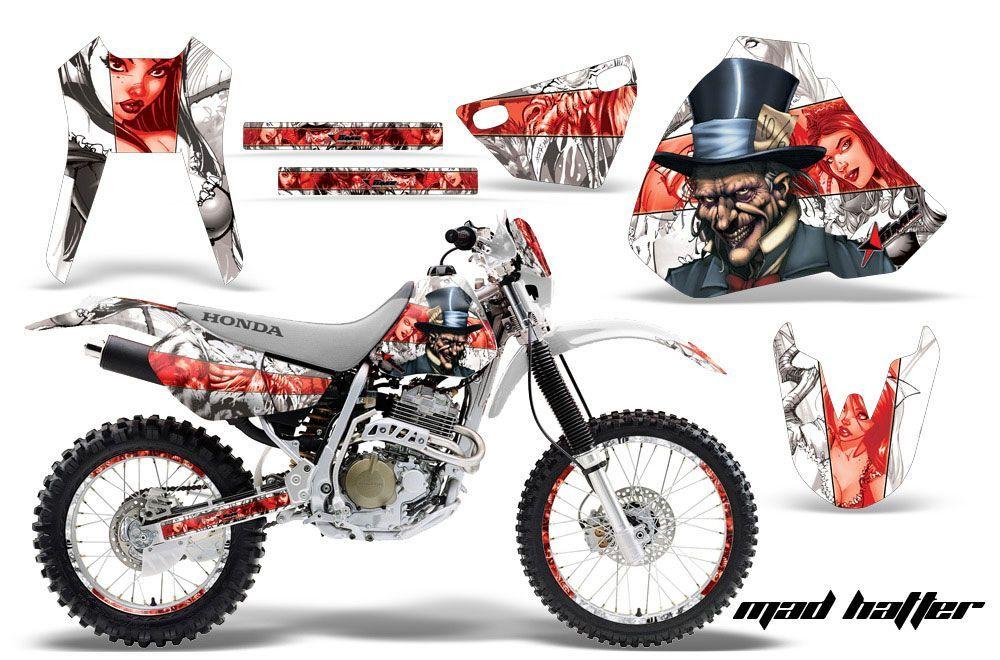 Honda XR400 Dirt Bike Graphic Kit - 1996-2004 Mad Hatter White